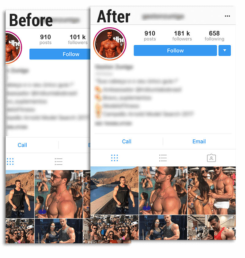 Instagram Before / After